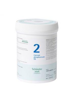 Schussler salt Pfluger nr 2   Calcium Phosphoricum D6   1000 Tablets   Gluten free