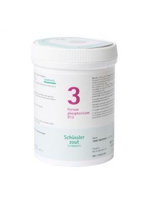 Schussler Salts Pflüger Nr 03   Ferrum phosphoricum D12   1000 Tablets   Gluten Free