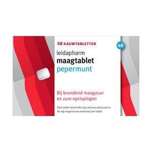 Leidapharm Maagkauwtabletten Pepermunt 48 Tabletten