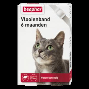Beaphar Vlooienband kat wit 35 cm